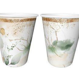 Ποτήρια Φύλλα & Glitter (6 τεμ)
