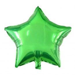 μπαλόνι chrome πράσινο αστέρι 18