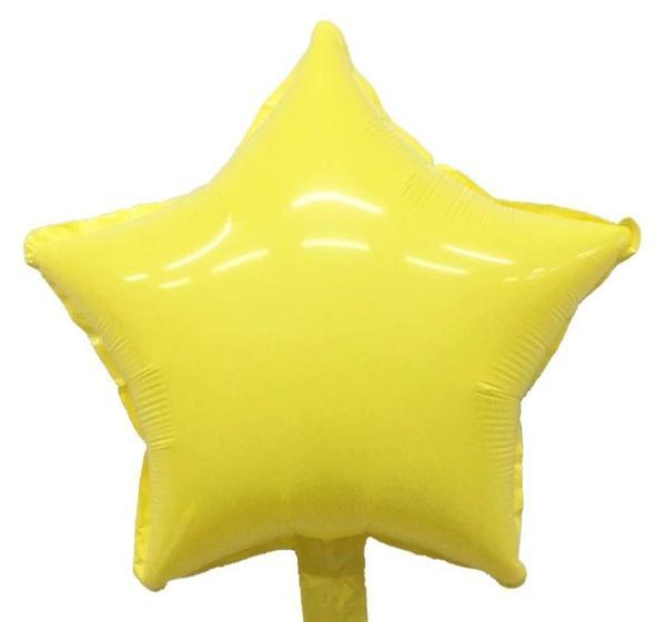 """μπαλόνι macaron κίτρινο αστέρι 18"""""""