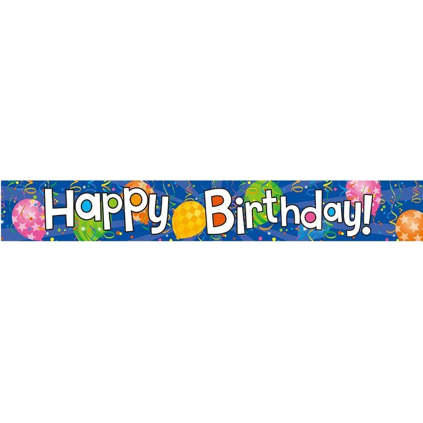Banner Happy Birthday Μπλε