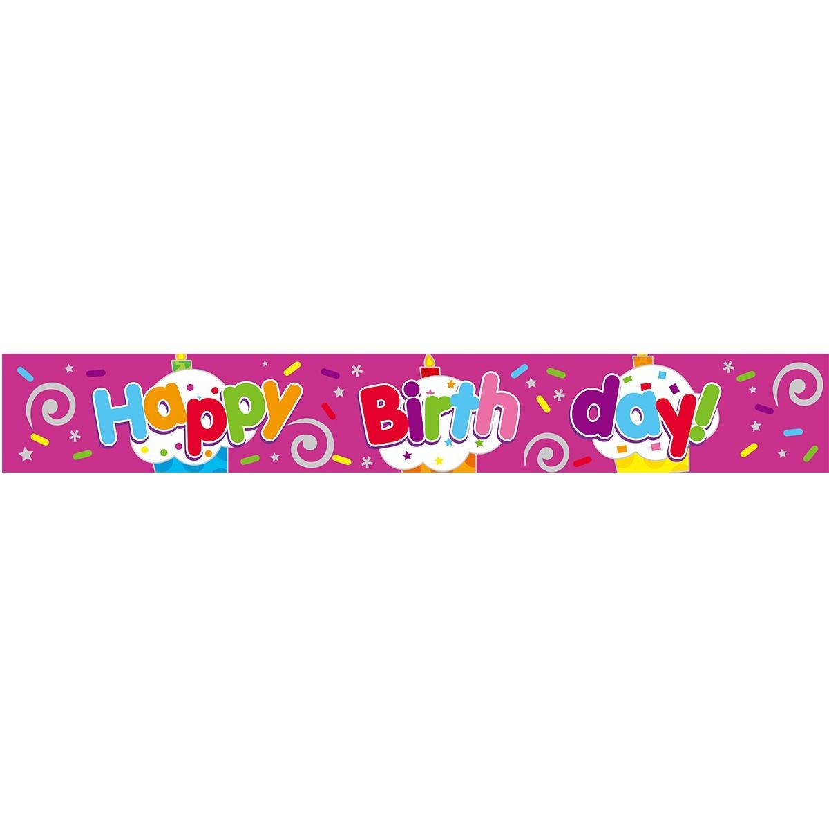 Banner Happy Birthday Φούξια