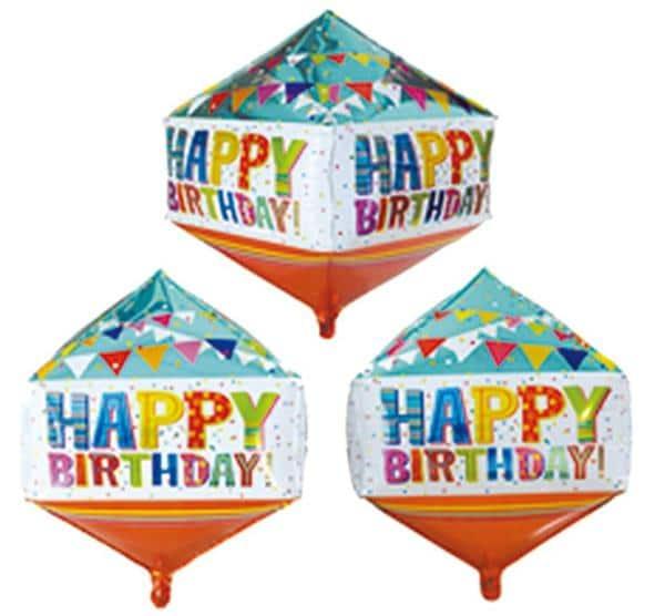 Μπαλόνι Happy Birthday Κύβος