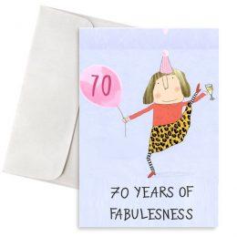 κάρτα γενεθλίων 70 years of fabulesness