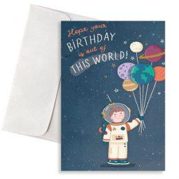κάρτα γενεθλίων Αστροναύτης