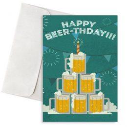 κάρτα γενεθλίων happy beerthday