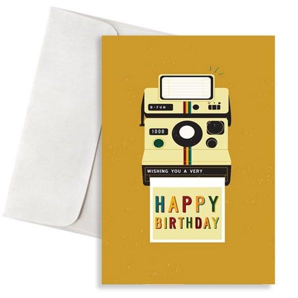 κάρτα γενεθλίων polaroid happy birthday