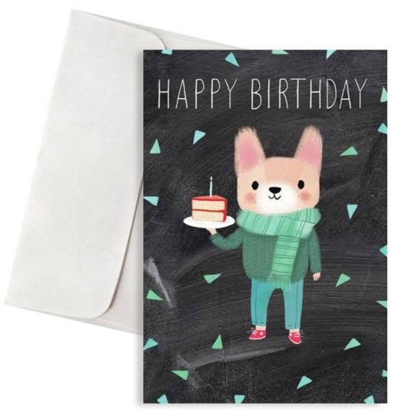 κάρτα γενεθλίων σκυλάκι