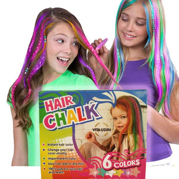 Κιμωλίες Μαλλιών (6 χρώματα)