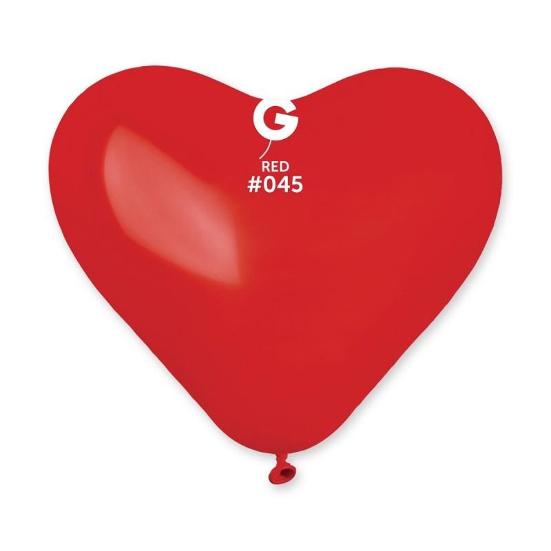 10″ Κόκκινη Καρδιά λάτεξ Μπαλόνι