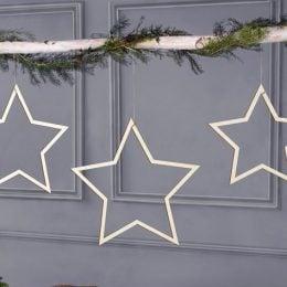 Ξύλινα Διακοσμητικά Αστέρια (3 τεμ)