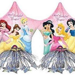 Μεγάλο μπαλόνι Aστέρι Πριγκίπισσες Disney με βαράκι & κορδέλες