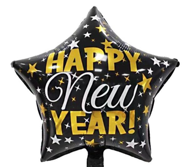 Μπαλόνι αστέρι Happy New Year