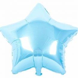 """μπαλόνι baby blue αστέρι 36"""""""