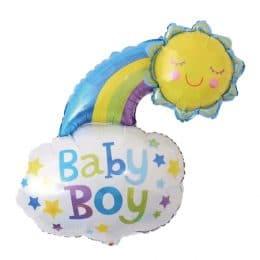Μπαλόνι baby boy ήλιος και σύννεφο