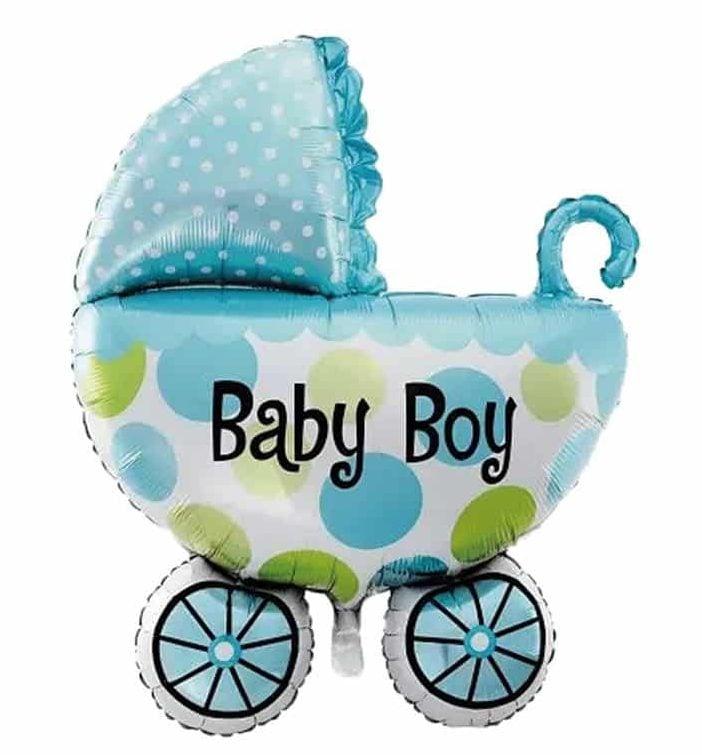 μπαλόνι baby boy καροτσάκι μπλε