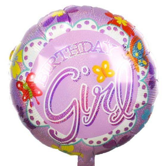 Μπαλόνι birthday girl πεταλούδες