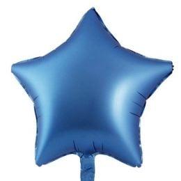 """μπαλόνι chrome μπλε αστέρι 18"""""""