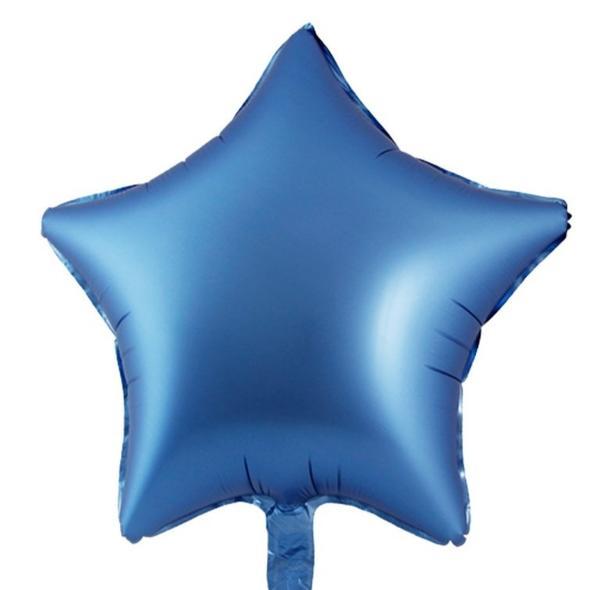 Μπαλόνι chrome Μπλε αστέρι 18″