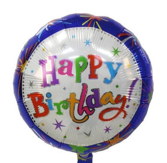 Μπαλόνι Happy Birthday Fireworks
