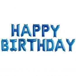 μπαλόνι happy birthday Μπλε 13 τεμ
