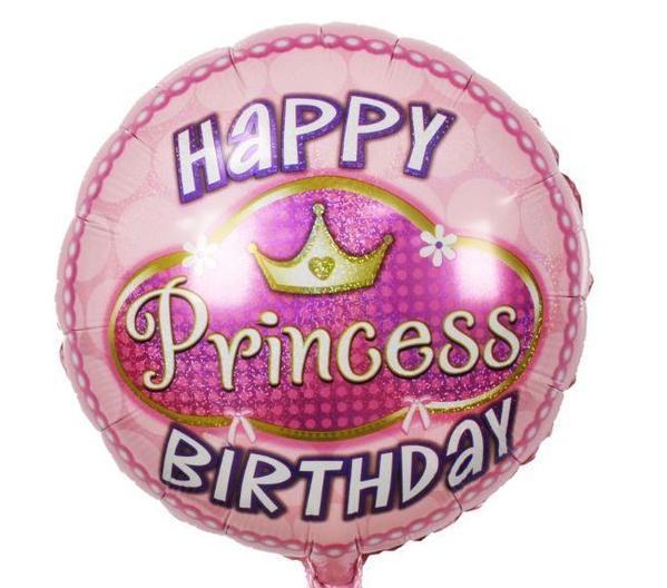 Μπαλόνι Happy Birthday Πριγκίπισσα