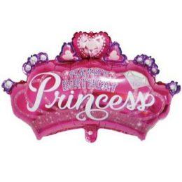 Μπαλόνι happy birthday στέμμα πριγκίπισσας