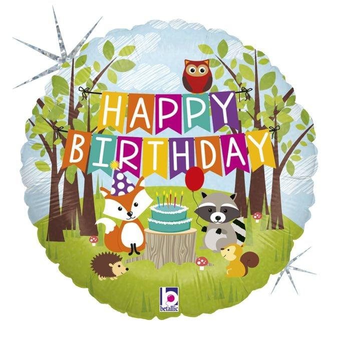 Μπαλόνι Happy Birthday Ζωάκια Δάσους