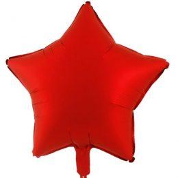 """μπαλόνι κόκκινο chrome αστέρι 18"""""""