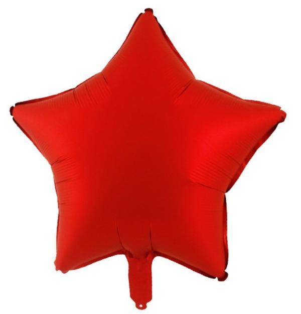 Μπαλόνι Κόκκινο Chrome αστέρι 18″