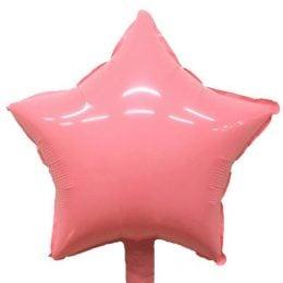 """μπαλόνι macaron ροζ αστέρι 18"""""""