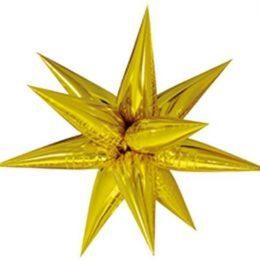 """μπαλόνι μαγικό αστέρι χρυσό 40"""""""