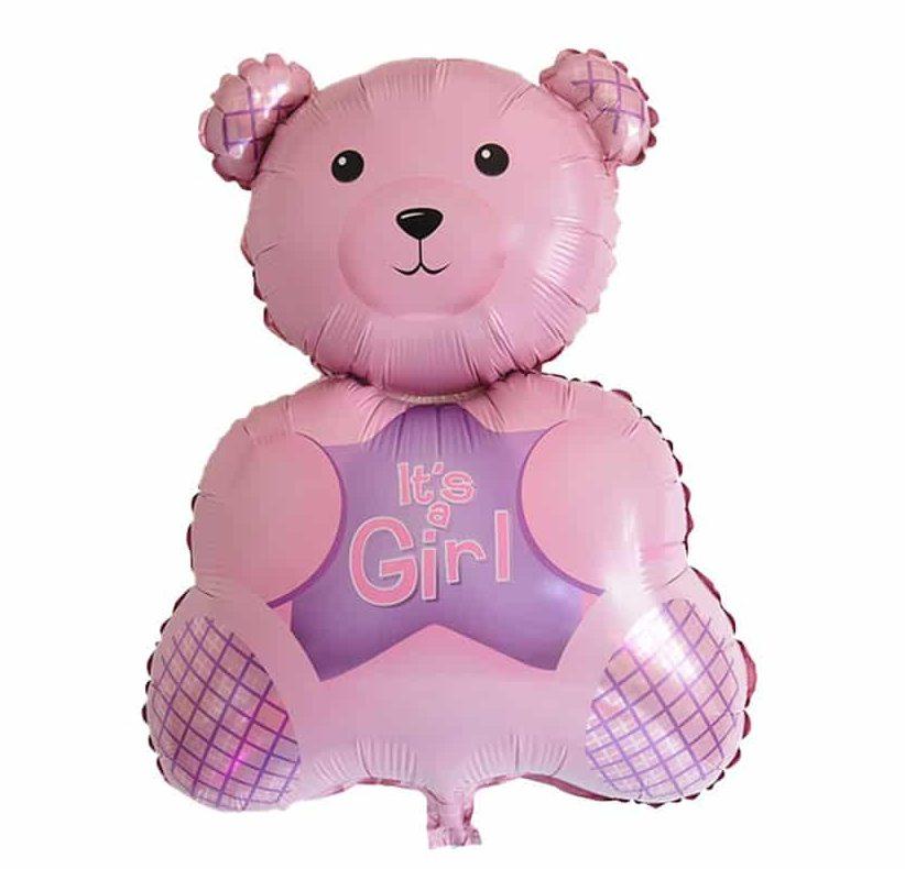 Μπαλόνι Ροζ Αρκουδάκι It's a Girl