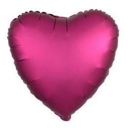 """μπαλόνι σατέν μοβ καρδιά 18"""""""