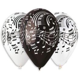 13″ Μπαλόνι τυπωμένο Μουσικές Νότες