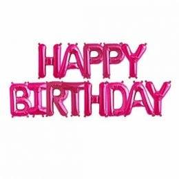 μπαλόνια happy birthday φούξια 13 τεμ