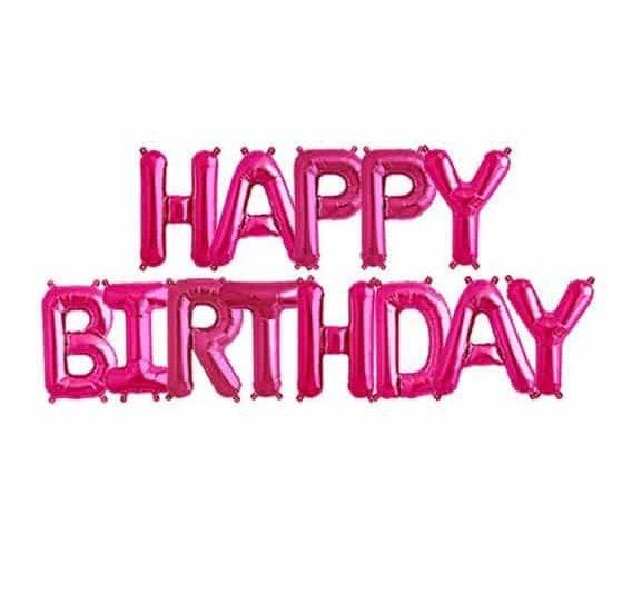 Μπαλόνια Happy Birthday Φούξια (13 τεμ)