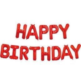 μπαλόνια happy birthday κάκκινο 13 τεμ