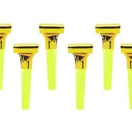 Σφυρίχτρες Blowouts Χρυσό (6 τεμ)
