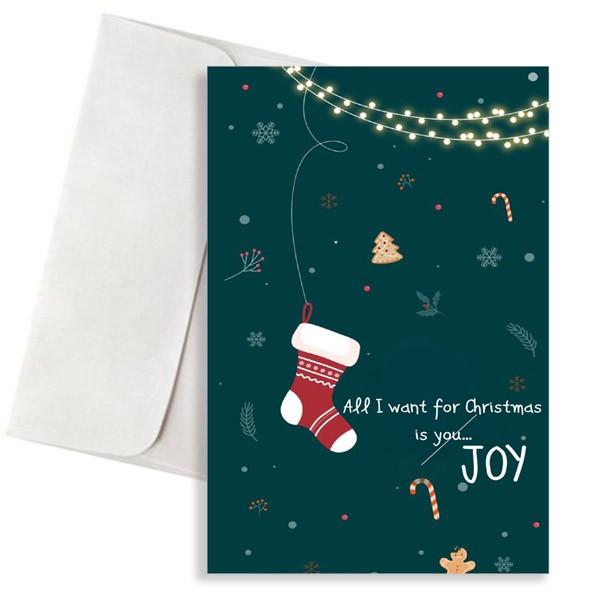 Χριστουγεννιάτικη κάρτα christmas joy