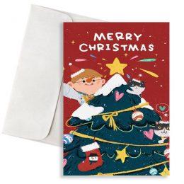 Χριστουγεννιάτικη κάρτα christmas tree