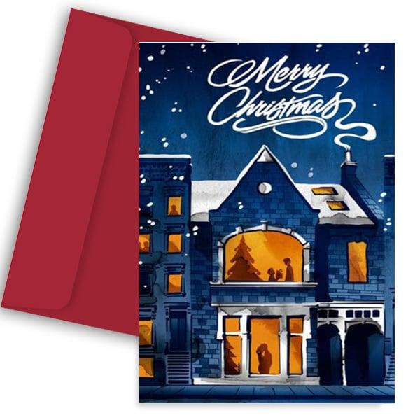 Χριστουγεννιάτικη Κάρτα Merry Christmas Night