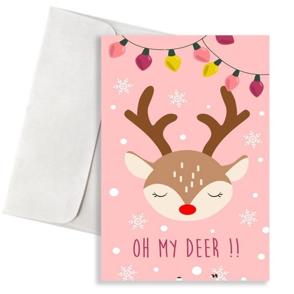 Χριστουγεννιάτικη κάρτα oh my deer