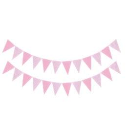 Διακοσμητικά Ροζ Σημαιάκια