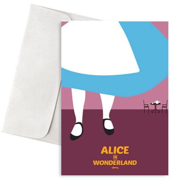 Ευχετήρια Κάρτα Alice in Wonderland
