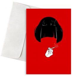 Ευχετήρια Κάρτα Mia Pulp Fiction
