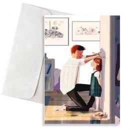 Ευχετήρια Κάρτα Μπαμπάς και Κόρη