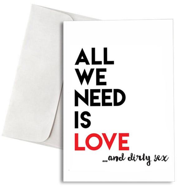 Ευχετήρια Κάρτα Love & Dirty Sex