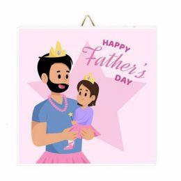 Καδράκι Happy Father's Day Princess