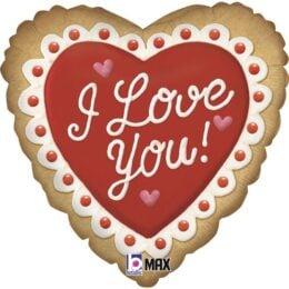 Μπαλόνι Καρδιά Μπισκότο I Love You