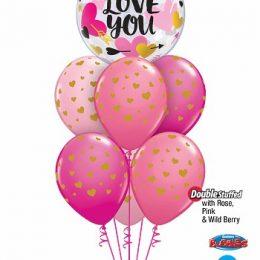 Μπαλόνι Bubble Love You Καρδιές & Βέλη